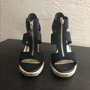 Guess Factory Lora Zip-Front Espadrille Wedges